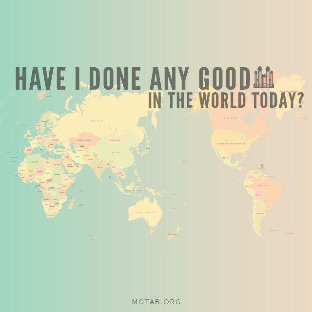 """""""Have I Done Any Good?"""" http://t.co/t7Xl9UlnVb  #MoTab #LDSConf http://t.co/NR6m0PiOSF"""