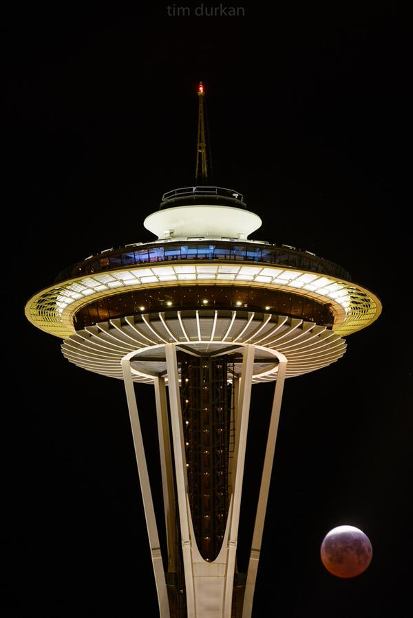 Last night's blood moon and @space_needle, courtesy of @timdurkan http://t.co/7GocTa563d