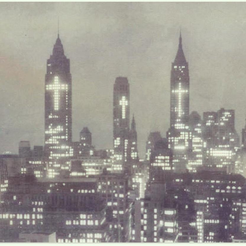 Good Friday Manhattan skyline 1956