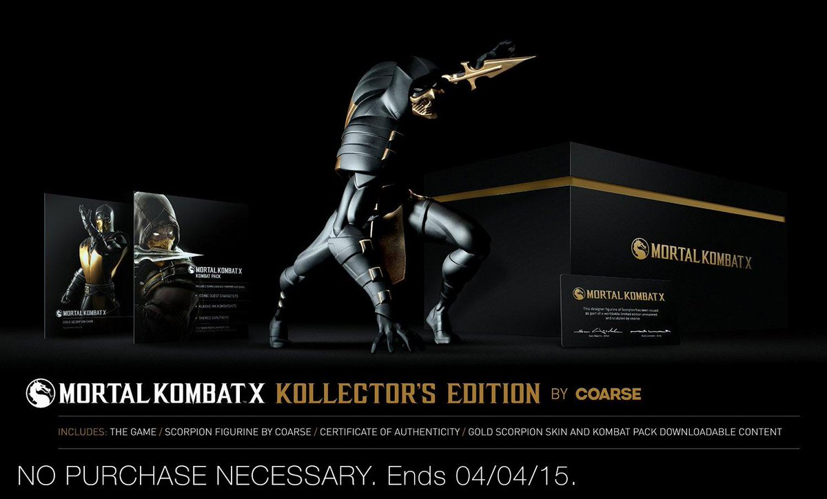 Follow & RT for a chance to win 1 of 2 MKX Coarse Editions. #MKXonTwitch #AmazonSweeps http://t.co/foad29wurW http://t.co/A6c7rt7nWD