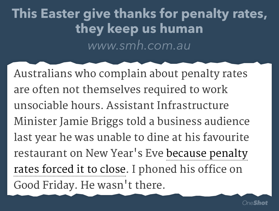 Penalty rates: it's about class structures. Low income people deserve a basic quality of life http://t.co/mbEBgAh9l6 http://t.co/bTbuEEal0b