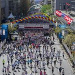 Photo gallery: More than 40,000 runners took part in 31th running of the Vancouver Sun Run. http://t.co/Hm1BYTSmgJ http://t.co/RdcVUUyQx4