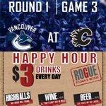 #PreGame = #PreDrinks @roguewetbar 3-6pm #HappyHour #Vancouver @VanCanucks #Canucks #NHLPlayoffs http://t.co/KZne4M8TZr