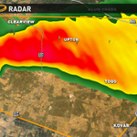 VERY intense storm over Bastrop w/ golf ball size hail. Storm is also showing signs of weak rotation. #atxwx http://t.co/0EzsbeBTci