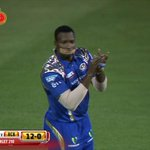 #Pollards cheeky message to the umpires #MI #IPL http://t.co/V1TgZBKhNH
