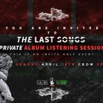 Today is @TheRealLilbre s private pre-release listening session for his first album, The Last Songs!!! #Nashville http://t.co/7CFzmHXGnu