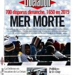 La une de Libération demain : Mer morte. A lire dès maintenant ici --> http://t.co/WnoOs27Uuw http://t.co/SuXFFlrP7D