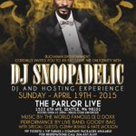#DJSNOOPADELIC live @ParlorSeattle tonite official #WellnessRetreat after party ! S/o #rmmpercy @420LoveMatch http://t.co/VwQzZdolgH