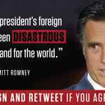 Sign if you agree with Gov. Romney: http://t.co/fQlaie8Jtt The Clinton-Obama foreign policy is a disaster. http://t.co/OCb6dkynOv