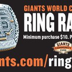 The @giantscommunity 2014 #SFGiants World Champions Ring Raffle is officially live. VISIT: http://t.co/sOKsDQWuqi http://t.co/7gExIwhuzc