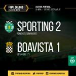 Final da partida! O #SportinCP jogou toda a 2.ª parte com 10 jogadores mas venceu o Boavista. #DiaDeSporting http://t.co/lGfRMoNeHf