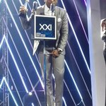 """SA Hip-Hop worked so hard in 2014/15."" - @MrCashtime. K.O.s moment as he received his #BestRapAlbum SAMA! #SAMAXXI http://t.co/o5vhzwYUrI"