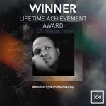 The Lifetime Achievement Award, brought to you by @AmstelSA, is presented to Mandla 'Spikiri' Mofokeng. #SAMAXXI http://t.co/wXs9fK8ZkO