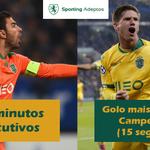 Os leões Rui Patrício e @adrien_silva23 conseguiram 2 recordes esta noite #DiaDeSporting http://t.co/cD7zwJjQhB