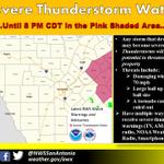 Severe Tstorm Watch til 8pm tonight for Bastrop, Fayette, Lavaca, & Lee Counties. Main threats hail & damaging winds. http://t.co/XxCEkr9tJH