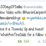 CAMS VIDEO FOR TODAY IS UP!  ILY @camerondallas PLEASE FOLLOW ME! #WhatAreTheOdds X288 https://t.co/HZq3rxypdH  http://t.co/Uj7aS3h5Sm