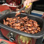 Many of the teams prepared wings on the first day of Hog Fest in Spartanburg. see more photos at @GoUpstate http://t.co/h2tEgXosrd