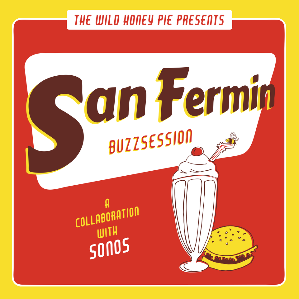 The Wild Honey Pie (@thewildhoneypie): We're shooting a #Buzzsession with @Sonos and @sanferminband next Wed! Wanna join? RT to enter. Free @ShakeShack! http://t.co/gipwcS5rEb