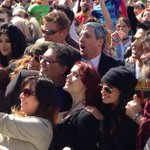 Mayor @nenshi and company posing for a giant crowd selfie #yyc @Calgaryexpo http://t.co/gIqRrvGFvm