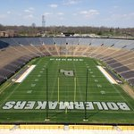 The finished spring game field for @BoilerFootball White Letters outlined in Black #boilerup http://t.co/7rxD7UJyjd