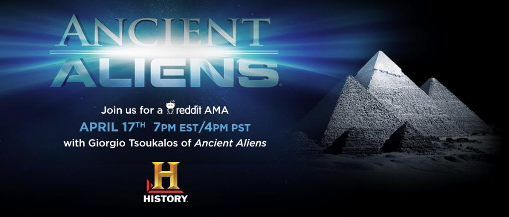 Have an @AncientAliens question for @Tsoukalos? Join the @reddit_AMA tonight at 7pm EST/4pm PST! #AncientAliens http://t.co/3wfd61jVB7
