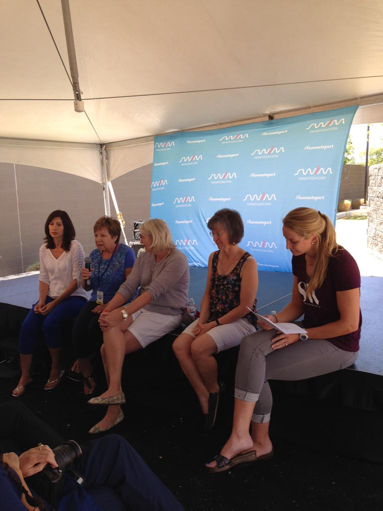 Our Olympians moms panel is here talking about the #FunnestSport! What questions do you have for them? http://t.co/3TuXOulVTx