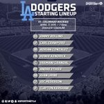 Tonight's #Dodgers lineup vs. #Rockies: http://t.co/0ubCmKCSN4