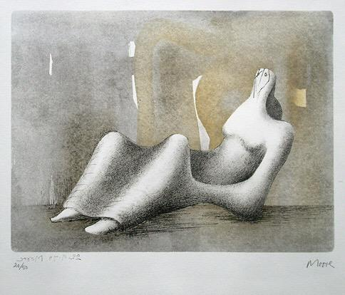 Henry Moore: reclining figure #lithography 1978 #artwit #artwork http://t.co/jnUbILa4XD