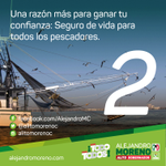 Una razón mas para ganar tu confianza: Seguro de vida para todos los pescadores. #ConTodoParaTodos http://t.co/4VCv4VVhTj