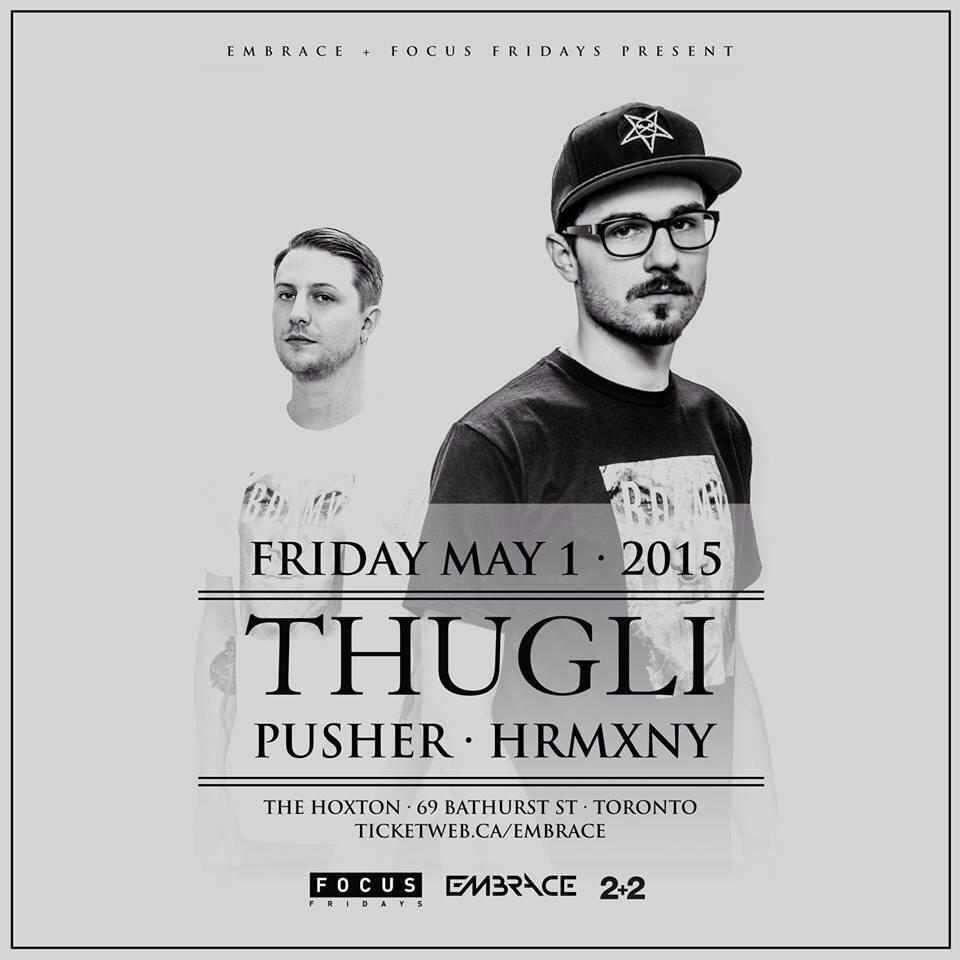 May 1st. Local boys that are not so local. @THUGLIMUSIC take centre stage w/ @hrmxny & @itsPusher #TheHoxton http://t.co/dDIjcCBEUq