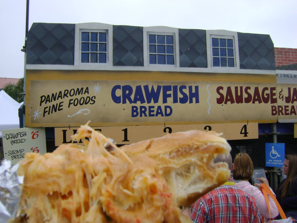 Who's looking forward to Crawfish Bread at @jazzfest ? http://t.co/cnIJPGEQZ4