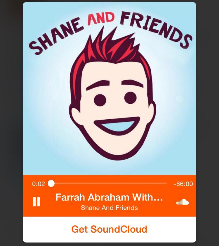Everyone go listen to @shanedawson new podcast @F1abraham  https://t.co/YbclmWx3am IT'S FARRAH ABRAHAM TIME! #Cult ❤️ http://t.co/n64SXH7Mkr