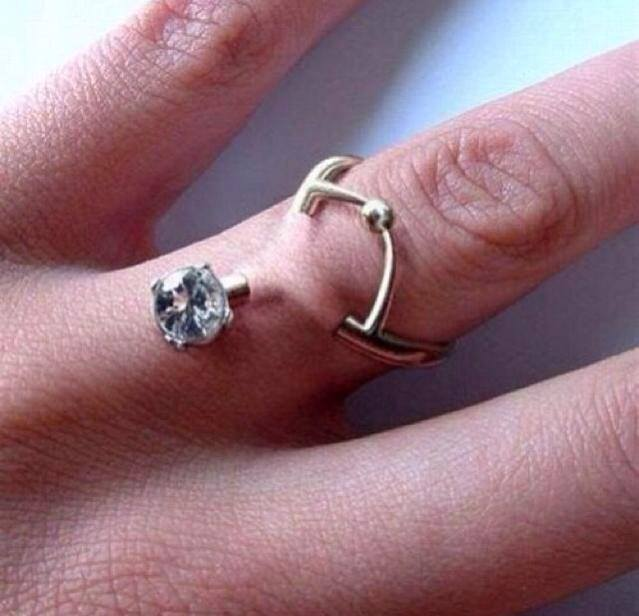 New wedding ring trend do you have a non traditional marriage