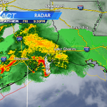 Complex of storms is holding together. Should arrive around 3-4 am #nola @wdsu http://t.co/IBzTSw9fBl