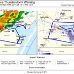 Severe Thunderstorm warning for central Nueces & S San Patricio counties until 10:15PM.  Large hail & damaging winds. http://t.co/mUa087K1Ov
