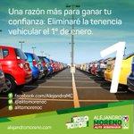 📢 Una razón más para ganar tu confianza: Eliminaré la tenencia vehicular el 1º de enero de 2016 #ConTodoParaTodos http://t.co/TBISvKaSak