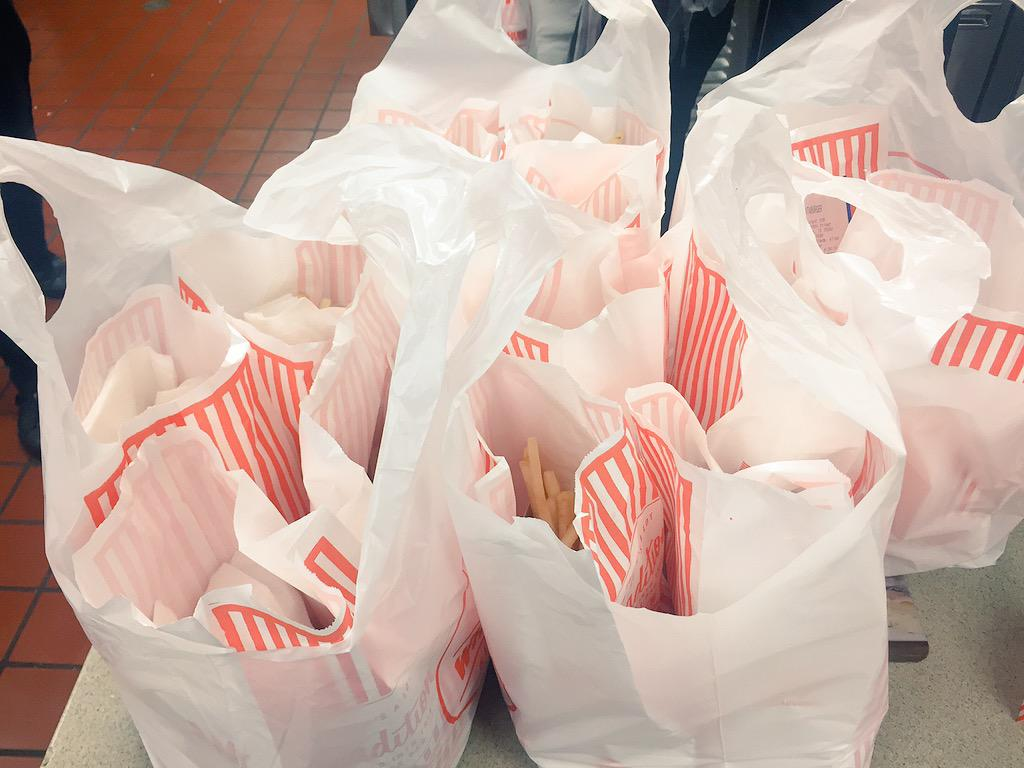 "You know what they say. ""If you're gonna play in Texas you gotta get @Whataburger to the band"" http://t.co/bEjj6A5JFk"