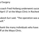 Fred Hoiberg Undergoes Successful Surgery http://t.co/jTB6oa3F8t http://t.co/FSAPqq6Txc