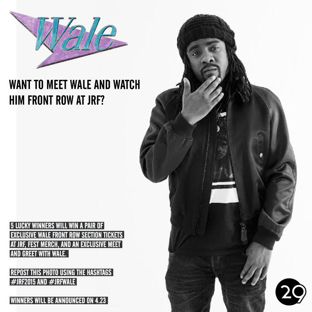 Retweet for a chance to meet this year's headliner @Wale! http://t.co/EQQV47ygql