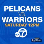 Dont miss Game 1 of #Warriors vs. #Pelicans in the #NBA Playoffs! Coverage starts at noon tomorrow on ABC7! #Dubson7 http://t.co/mueM2kXBty