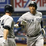 Alex Rodriguez is LOCKED IN. A-Rod hits his 2nd home run of the game to tie the Rays 4-4 in the 6th. http://t.co/cFxk6s6atf