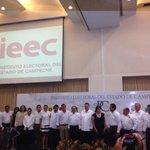 📢 Con los presidentes de los partidos y nuestro candidato a la gubernatura de Campeche Alejandro Moreno #PRIVerde http://t.co/DnPzTz4r2N
