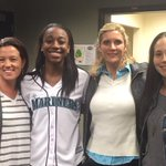 Almost time for the first pitch @Mariners and @jloyd32! @seattlestorm @S10Bird @jboucek #TogetherWeRise http://t.co/qW3badBrEq