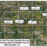 Results of our #tornado surveys today - 6 rated EF-0 were found. Details at http://t.co/BQgjMVYZUB. #phwx #txwx http://t.co/KuupN0ooN1