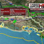 Severe T-Storm WATCH for most of #Acadiana through 2am. Damaging winds/hail main threat. http://t.co/K8y9fA65BE #lawx http://t.co/xDQQVE3Yu7