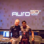 RT @arunrp555: Recent Pictures of @Jharrisjayaraj with Mr.wilfried (the inventor of Auro 3D ) @ Galaxy studios NV photos: SelvaKumar
