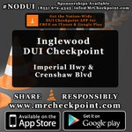 http://t.co/HFiJq2suPf NOW #LosAngeles DUI Checkpoint #Inglewood Imperial Hwy & Crenshaw Blvd #NODUI #LA #SoCal http://t.co/xGRacsctx6
