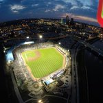 Opening Night record crowd of 12,669. THANKS. @IowaCubsTurf drone photo: http://t.co/0IhbyXIg3z