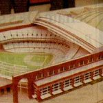 Early concept for what ultimately turned into Safeco Field. Model had the park in the north Kingdome lot. #Mariners http://t.co/z01SVp4deS