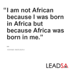 """Wake up and say, """"I am an African."""" Good morning. #NoToXenophobia http://t.co/luxFv67ySE"""